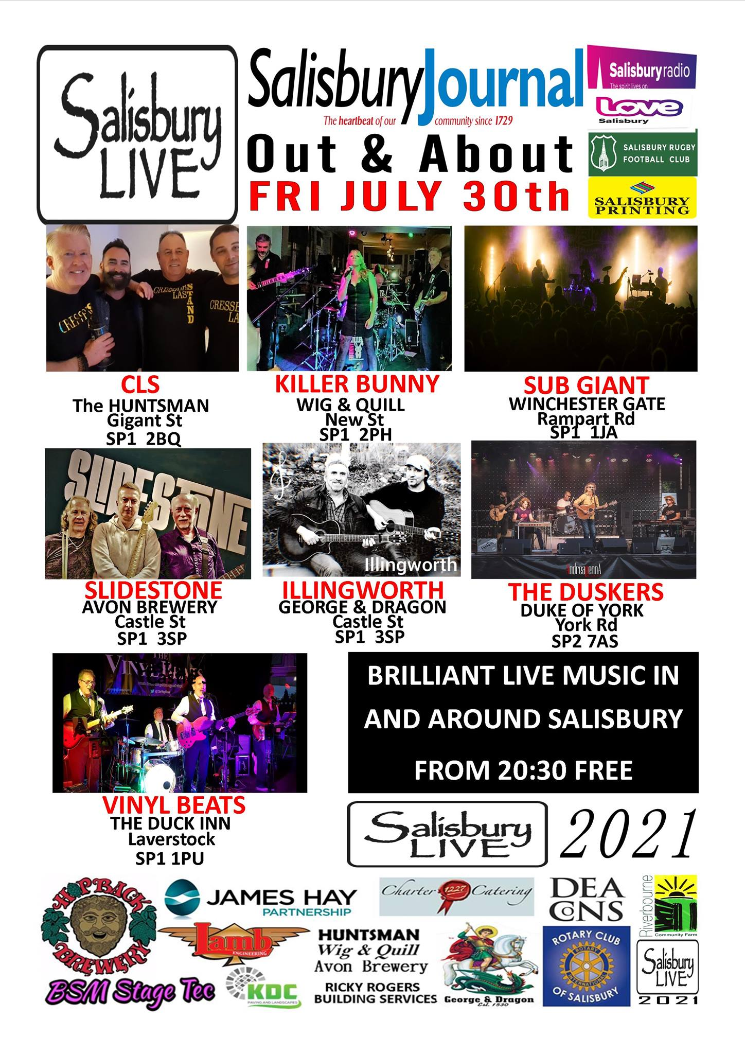 Salisbury Live 'Out and About': SUBGIANT