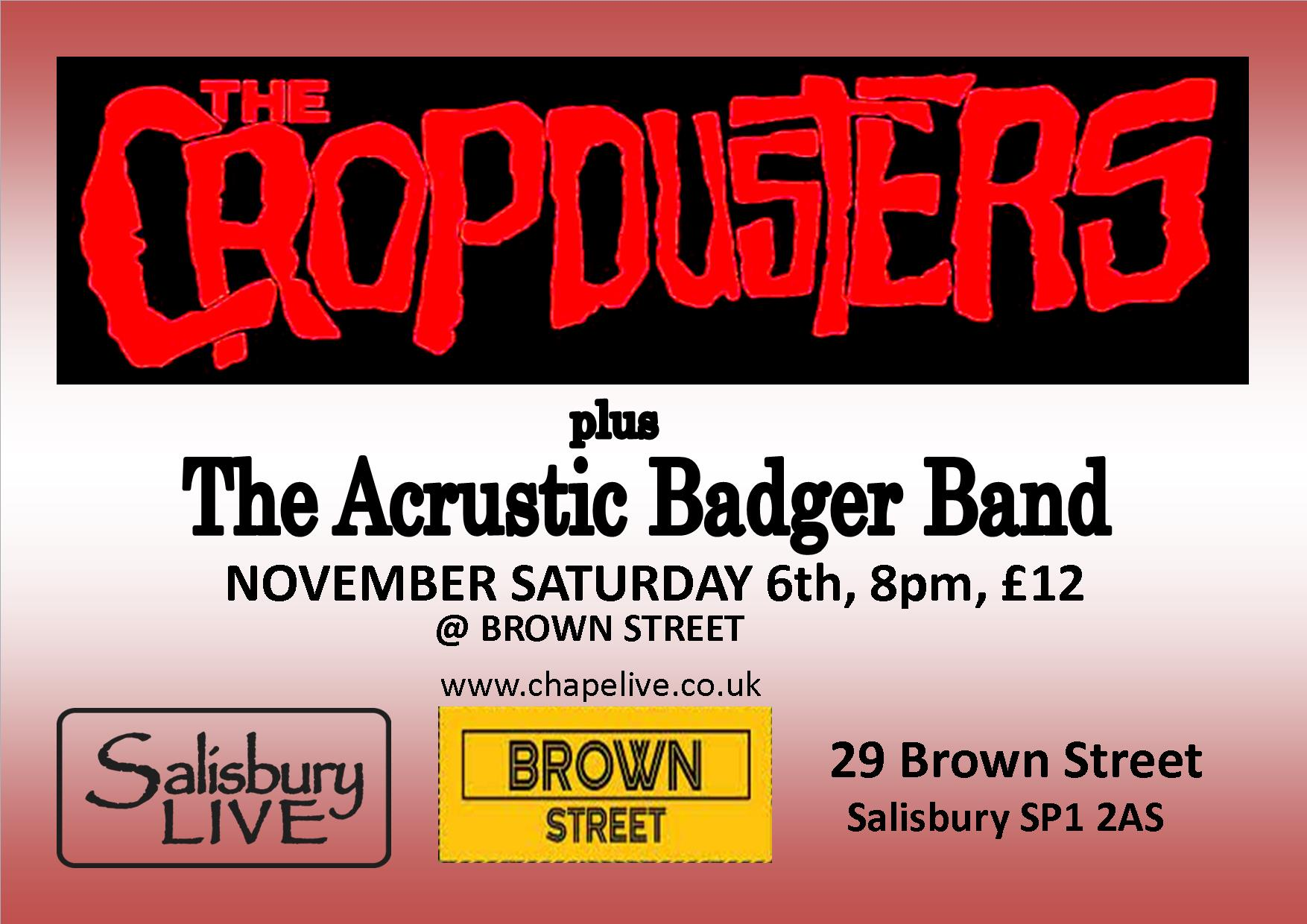The Cropdusters + The Acrustic Badger Band